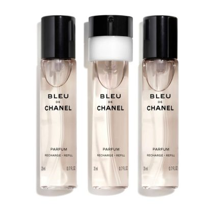BLEU DE CHANEL PARFUM TWIST AND SPRAY 3x20ml Refill