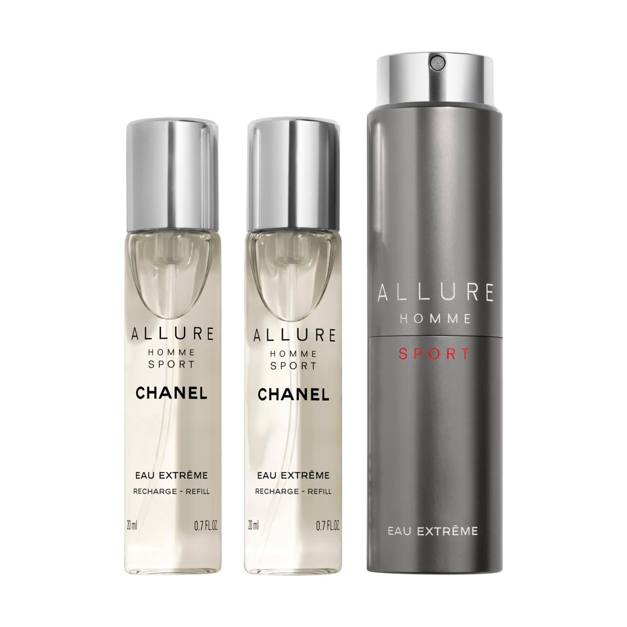 ALLURE HOMME SPORT EAU EXTRÊME REFILLABLE TRAVEL SPRAY 3 X 20ML