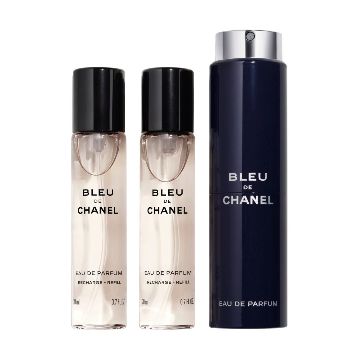 BLEU DE CHANEL EAU DE PARFUM REFILLABLE TRAVEL SPRAY 3 x 20ml