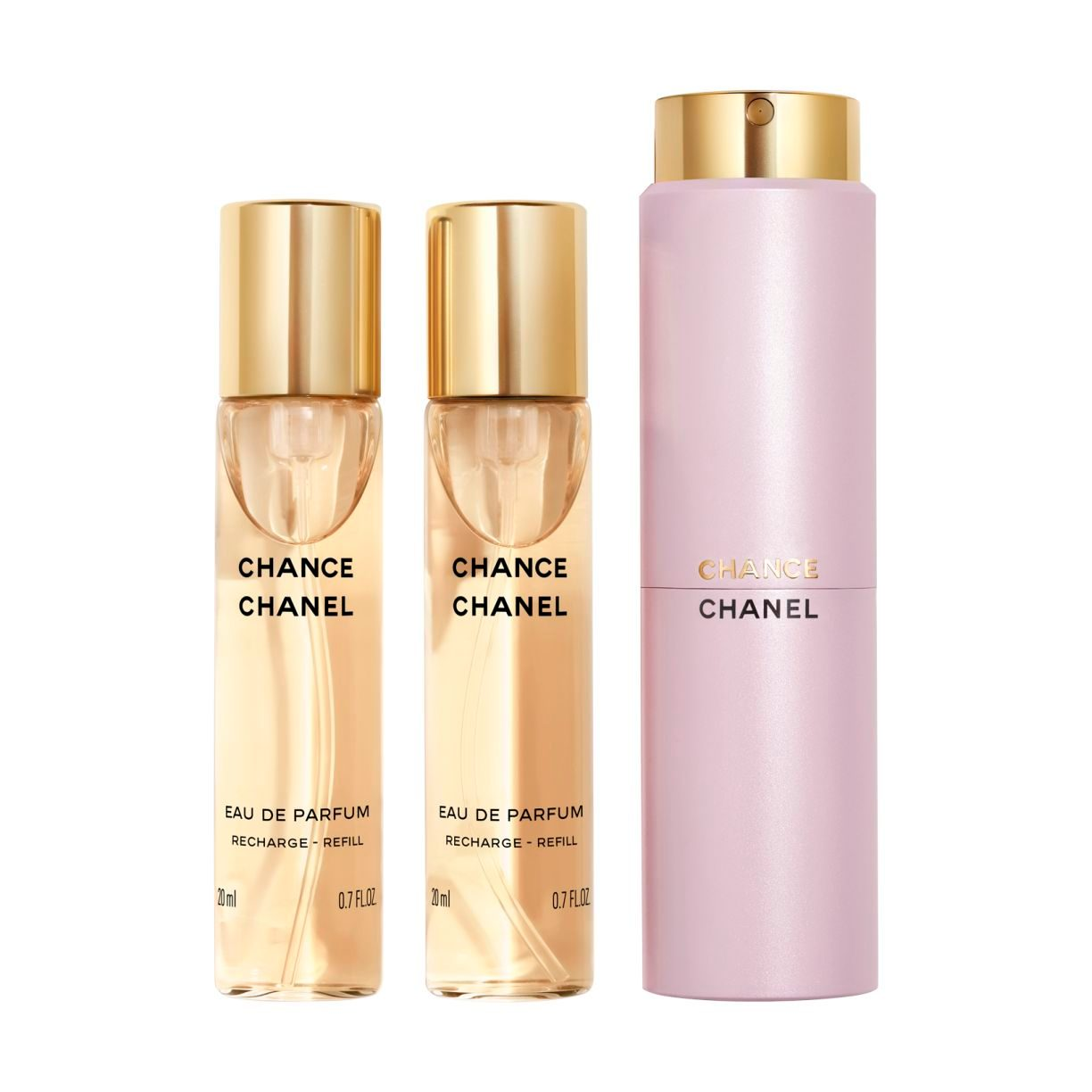 CHANCE EAU DE PARFUM TWIST AND SPRAY 3x20ml