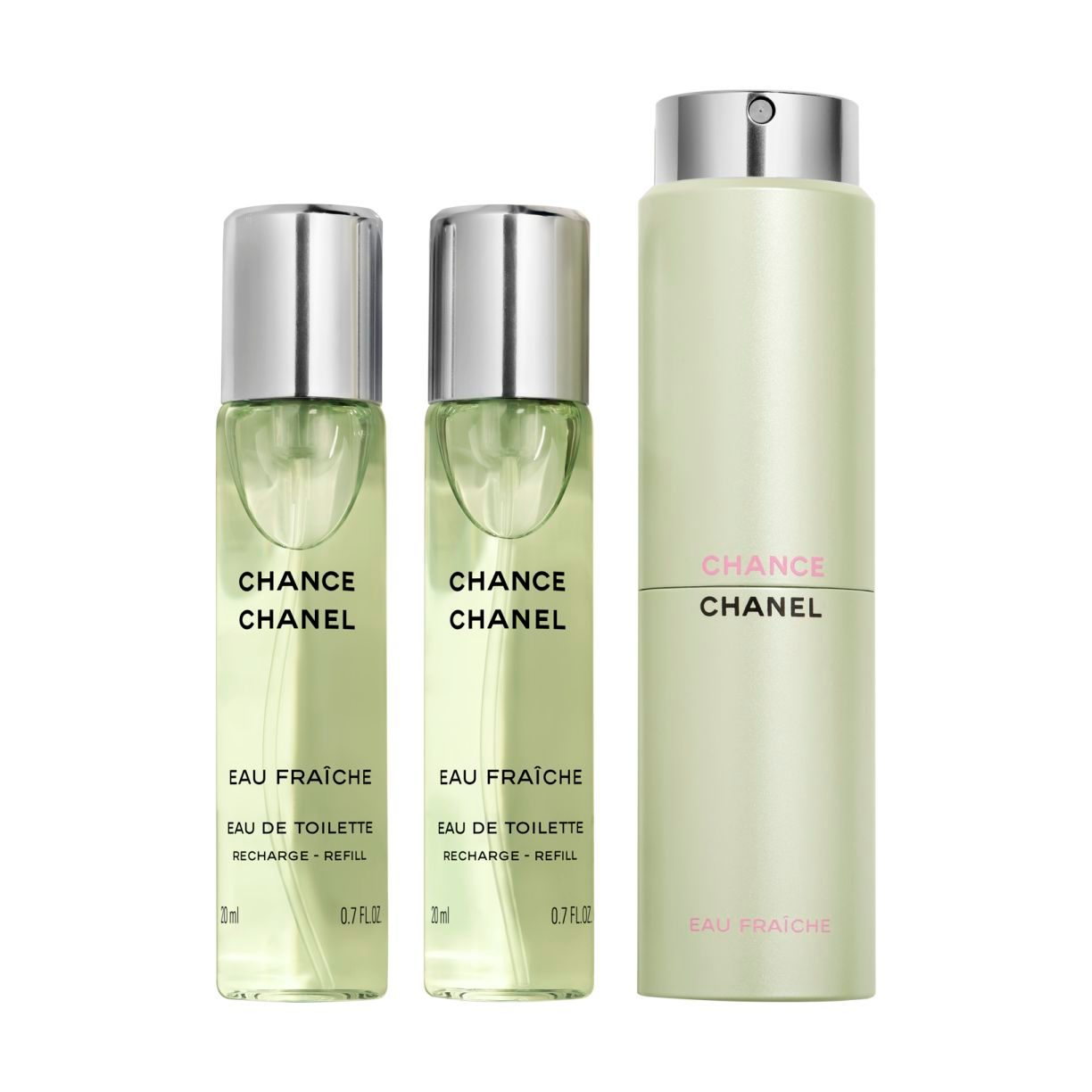 CHANCE EAU FRAÎCHE EAU DE TOILETTE TWIST AND SPRAY 3x20ml