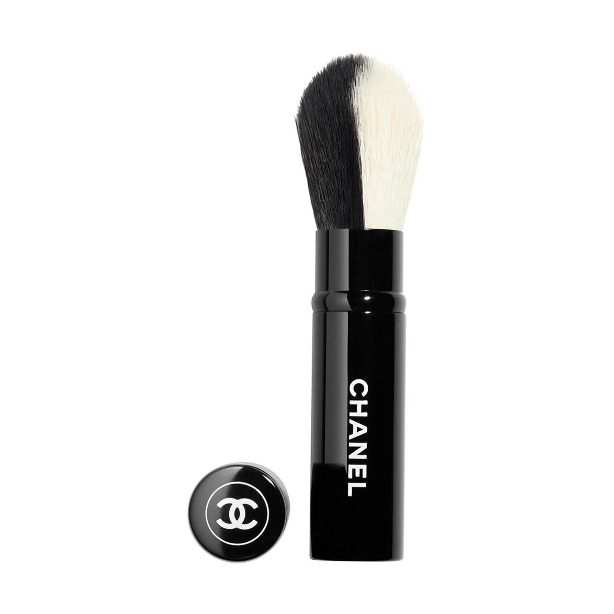 LES PINCEAUX DE CHANEL RETRACTABLE DUAL-HEAD FACE BRUSH BLUSH/HIGHLIGHTER 1pce