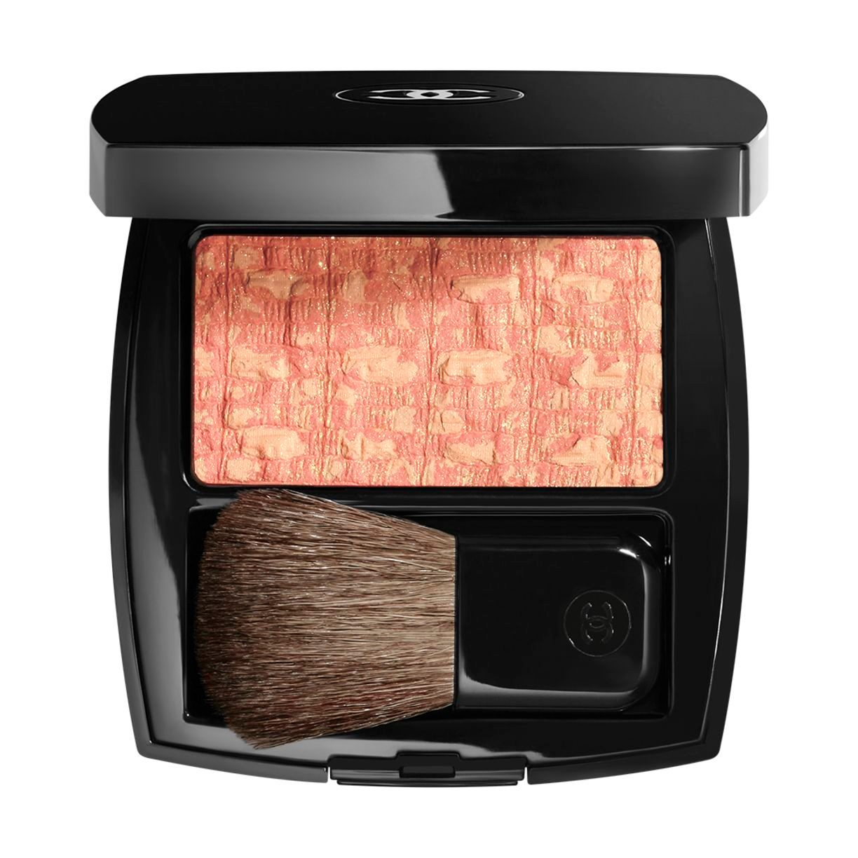 LES TISSAGES DE CHANEL BLUSH DUO IN POLVERE SETOSA 20 - TWEED CORAIL