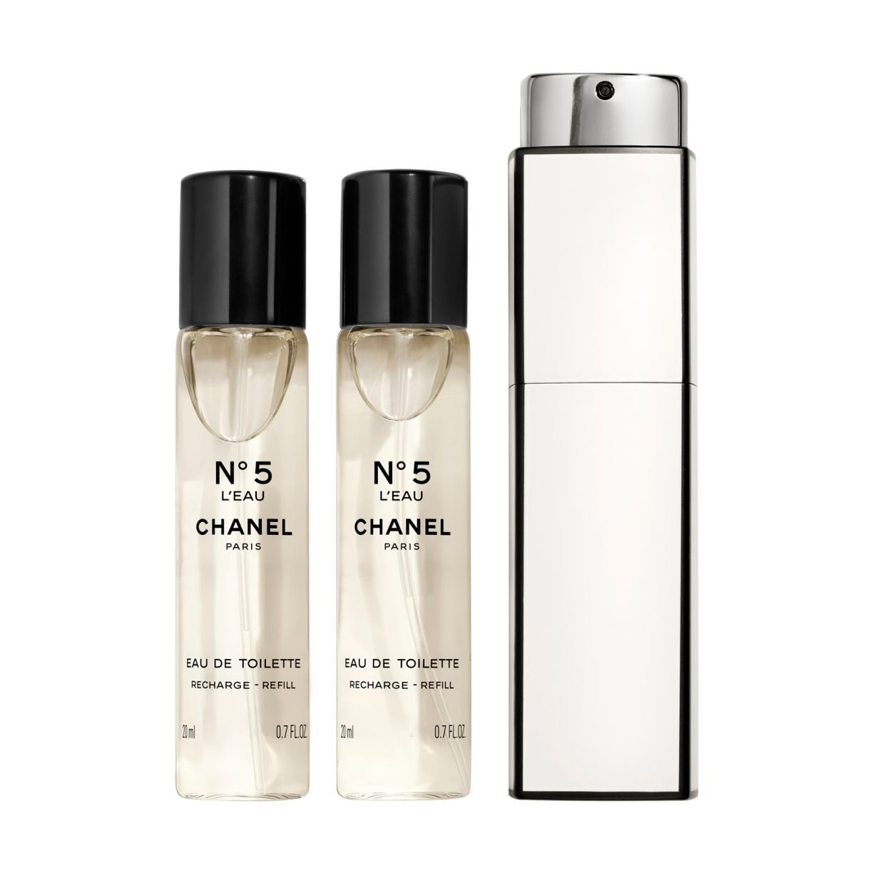 N°5 L'EAU EAU DE TOILETTE TWIST & SPRAY 3 x 20ml