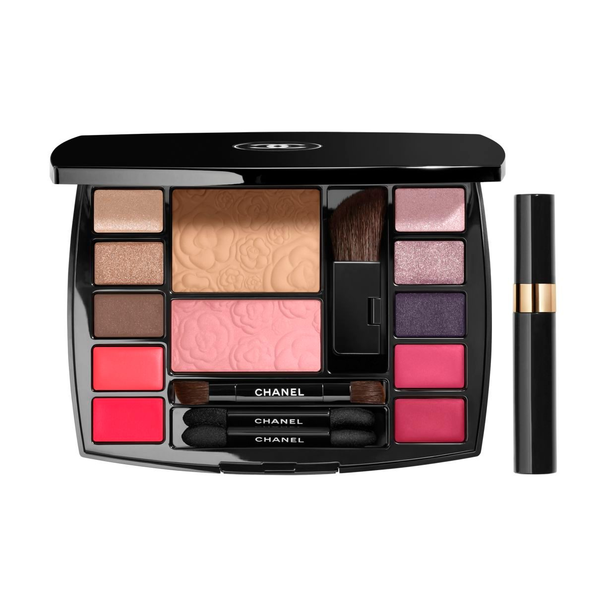TRAVEL MAKEUP PALETTE PALETTE PER UN MAKE UP COMPLETO (COLORITO, OCCHI, LABBRA) E MINI MASCARA  Harmonie de Camélias 17g